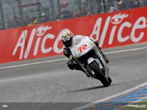 Yuki Takahashi in action in Le Mans (125cc)