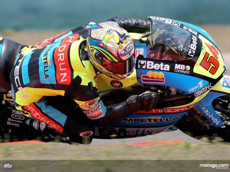 Manuel Poggiali in action (250cc)