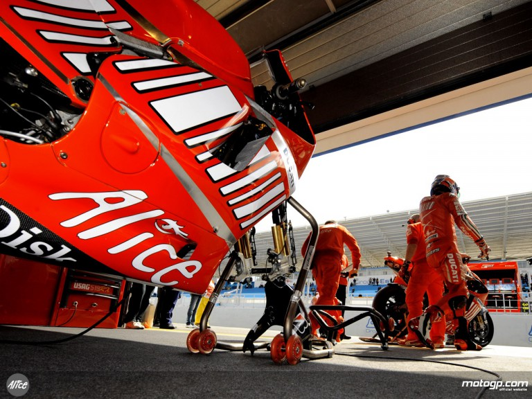 Ducati Marlboro Team garage
