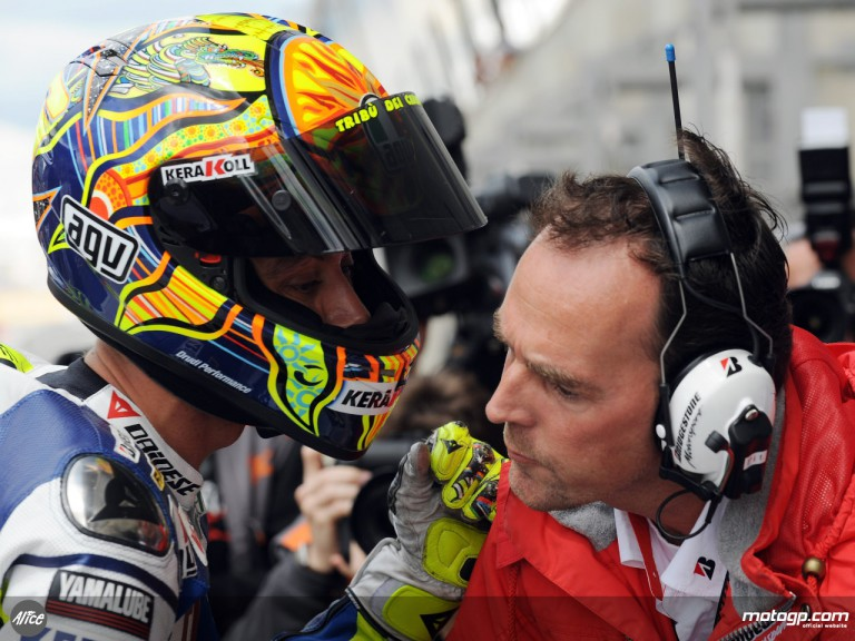 Valentino Rossi and Bridgestone´s Peter Baumgartner