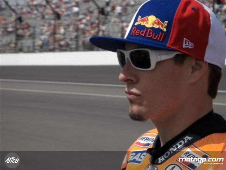 Nicky Hayden at the Indianapolis Motor Speedway