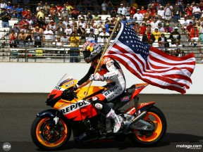 Nicky Hayden at the IMS ahead of the Indy 500 race