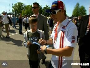 Hayden´s day out at Indy 500