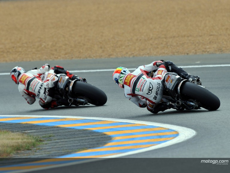 Shinya Nakano and Alex de Angelis at the French Grand Prix