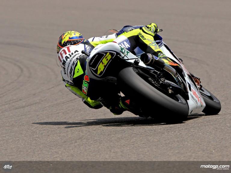 Valentino Rossi in action (MotoGP)