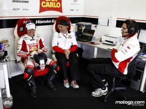 Nakano in the San Carlo Honda Gresini garage