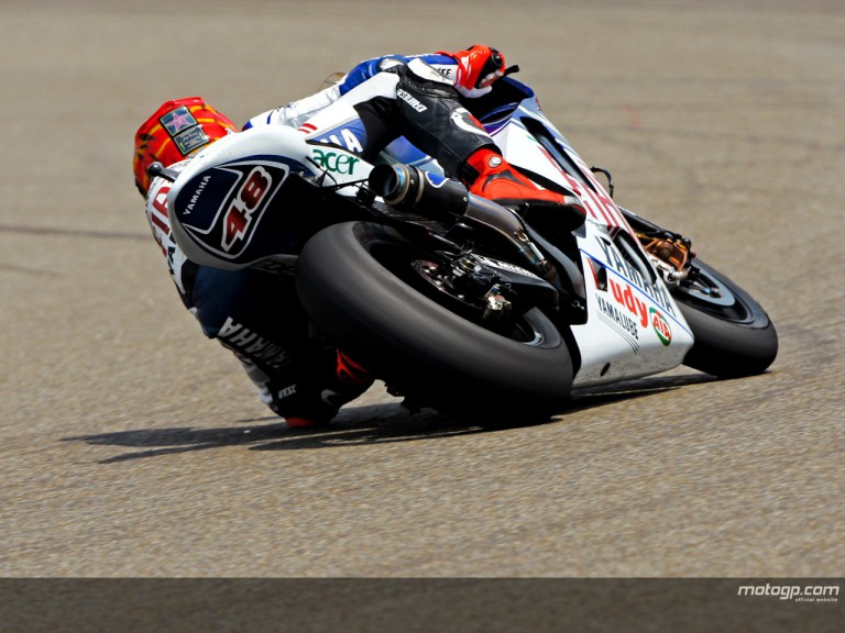 Jorge Lorenzo in action