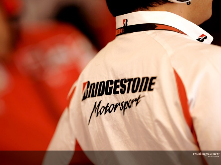 Bridgestone technician in Ducati Marlboro box