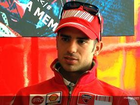 Marco Melandri on his debut with Ducati Marlboro