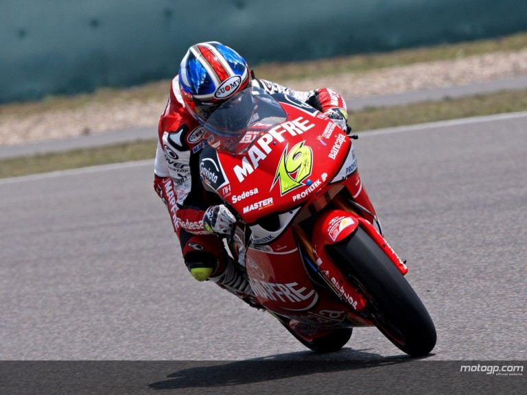 Alvaro Bautista in action