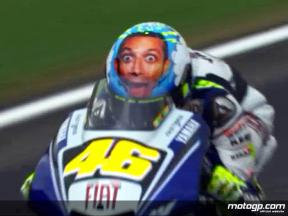 Valentino Rossi shows off new helmet design at Mugello