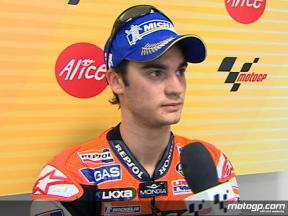 Pedrosa reviews front row run