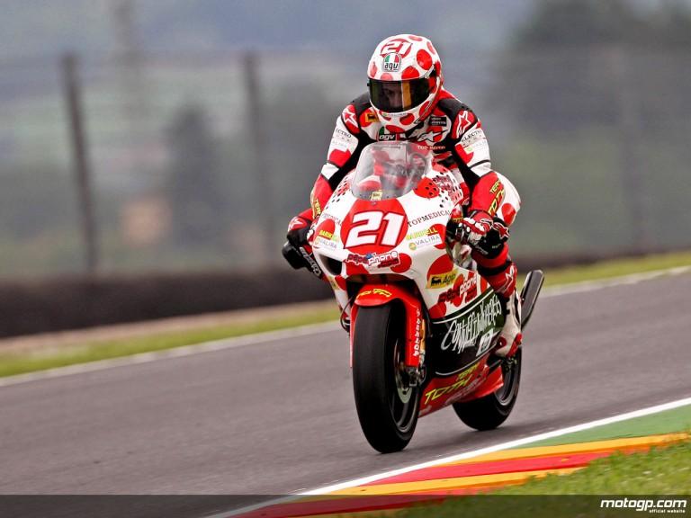 Hector Barberá in action in Mugello (250cc)