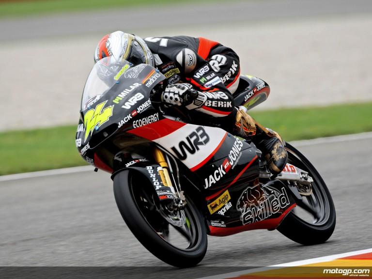 Simone Corsi in action in Mugello (125cc)