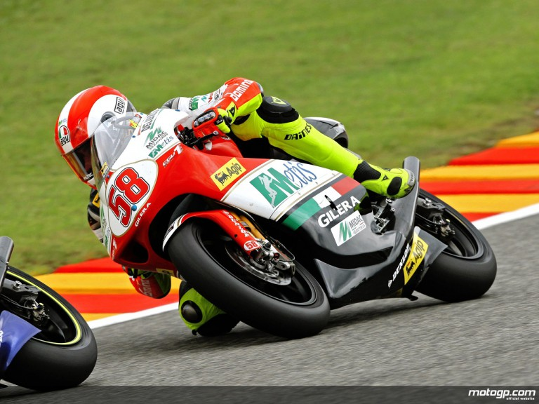 Marco Simoncelli in action in Mugello (250cc)