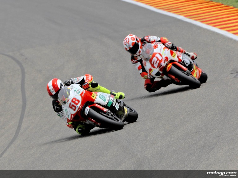 Marco Simoncelli and Hector Barberá in action in Mugello (250cc)