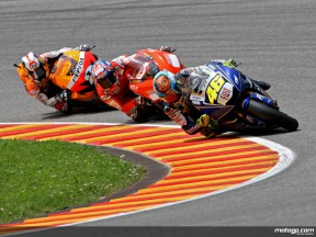Rossi, Stoner and Pedrosa in action in Mugello (MotoGP)