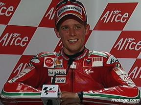 Casey Stoner interview after race in Mugello