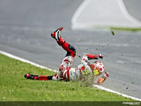 Hector Barberá crashes out in Mugello