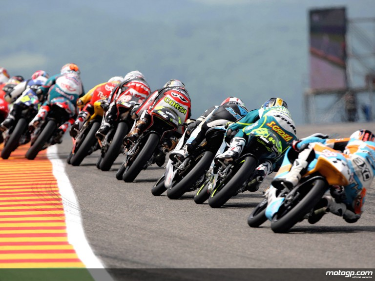 125cc Group in action in Mugello