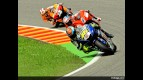 Rossi, Stoner and Pedrosa in action in Mugello