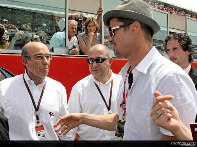 Hollywood star Brad Pitt visits Mugello