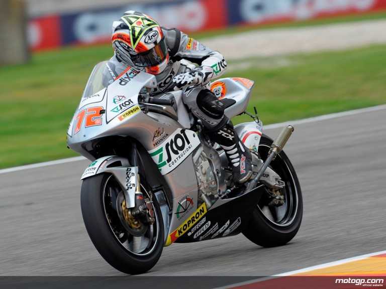 Yuki Takahashi in action in Mugello (250cc)