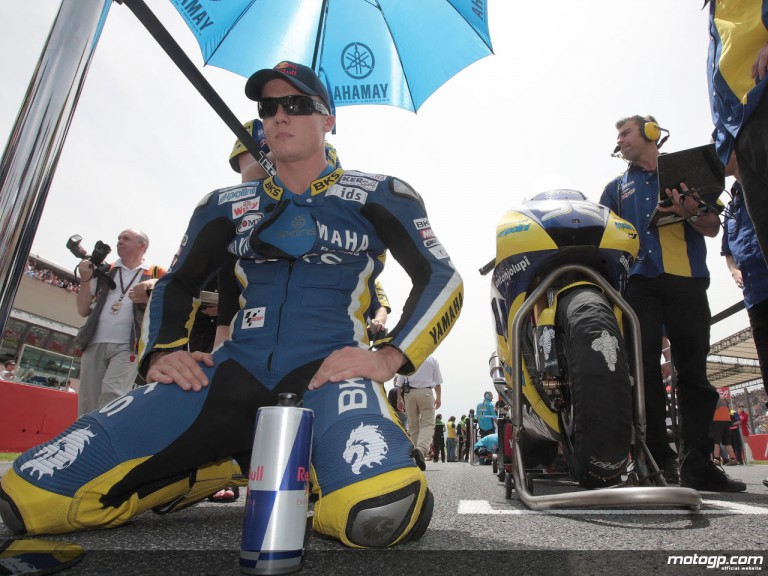 James Toseland on the grid at Mugello ahead of the Italian GP