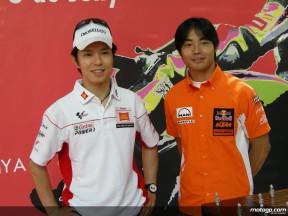 Nakano and Aoyama on second `home´ race