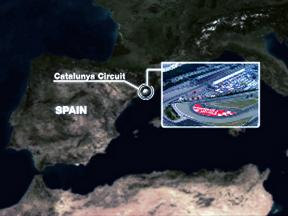 Catalunya circuit close up
