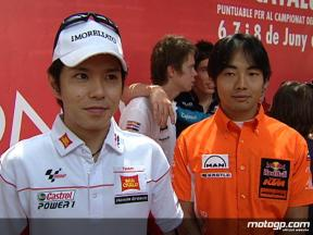 Nakano and Aoyama on second `home´ race