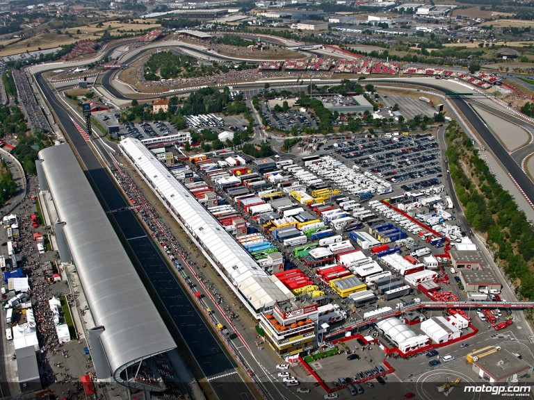 Aerial shot of the Catalunya circuit