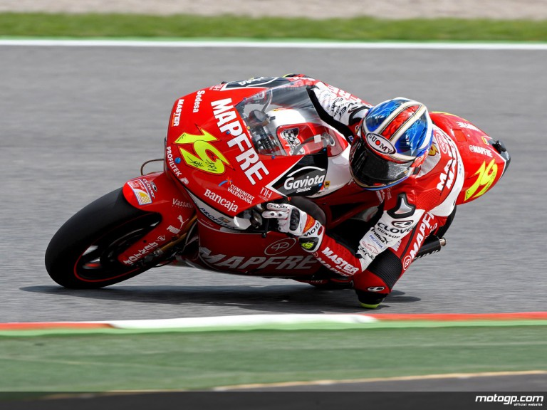 Alvaro Bautista in action in Catalunya (250cc)