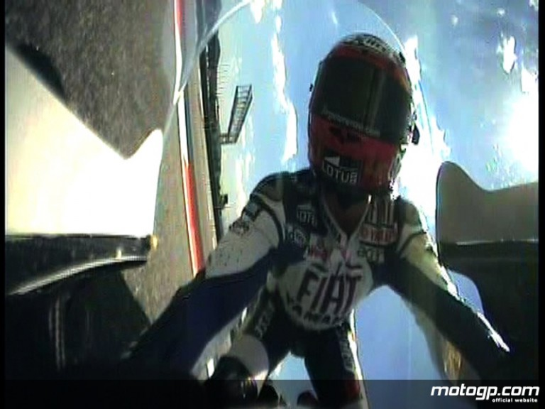 OnBoard shot of Jorge Lorenzo crashing at Catalunya