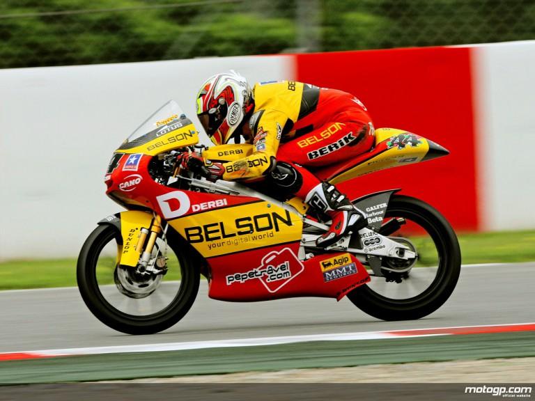 Pol Espargaró in action in Catalunya (125cc)