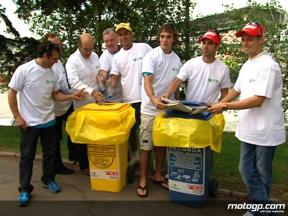 Recycling promotion with MotoGP riders