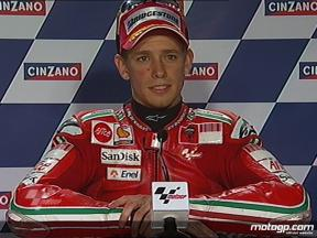 Casey Stoner interview after QP in Catalunya