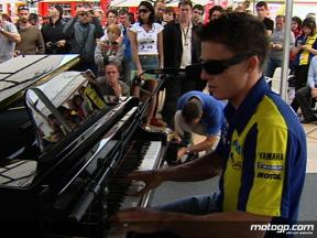 James Toseland live performance in the MotoGP paddock at Catalunya