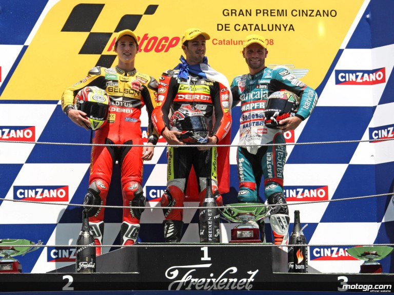 Di Meglio, Espargaró and Talmacsi on the podium at Catalunya (125cc)