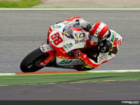 Marco Simoncelli in action in Catalunya (250cc)