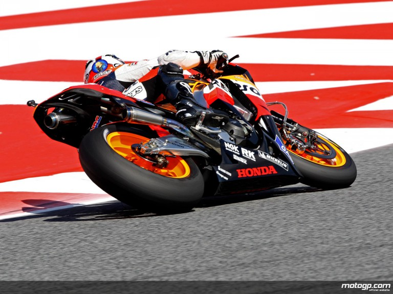 Dani Pedrosa in action in Catalunya