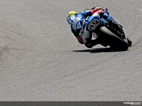 Valentino Rossi in action in Catalunya