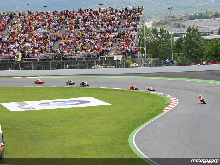 MotoGP group in action in Catalunya
