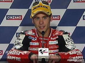 Hector Barbera interview after race in Catalunya