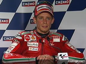 Casey Stoner interview after race in Catalunya