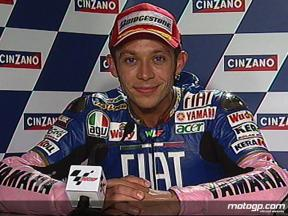 Valentino Rossi interview after race in Catalunya