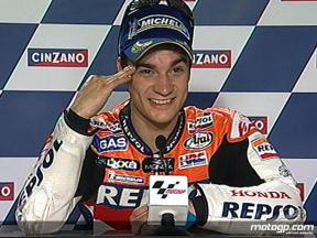 Dani Pedrosa interview after race in Catalunya