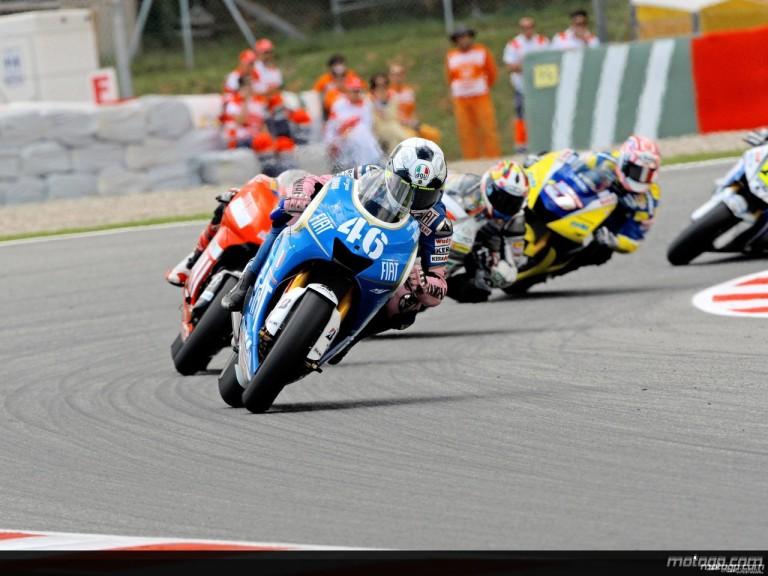 Valentino Rossi in action in Catalunya