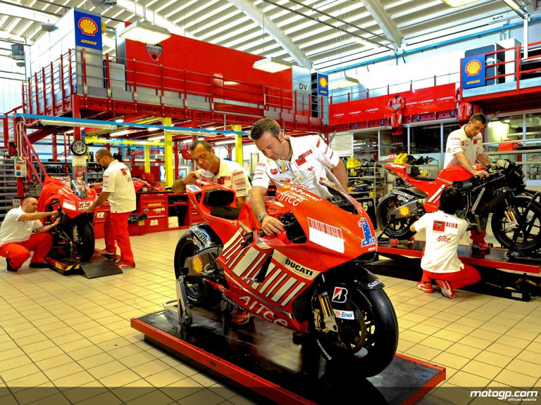 Inside the Ducati factory