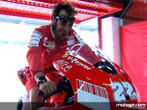 Test rider Guareschi on GP9 plans